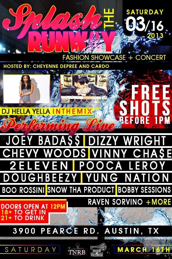 SXSW Event Alert: Splash the Runway (Fashion Showcas & Concert)